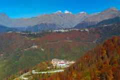 Autumn mountain landscape, Krasnaya Polyana, Sochi Royalty Free Stock Image