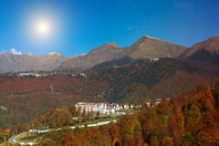 Autumn mountain landscape, Krasnaya Polyana, Sochi Royalty Free Stock Images
