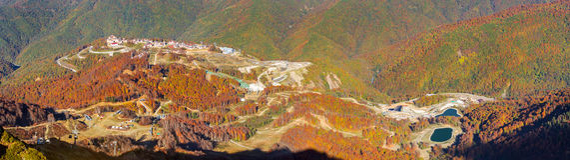 Autumn mountain landscape, Krasnaya Polyana, Sochi Royalty Free Stock Photo