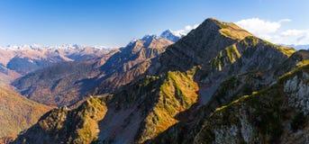 Autumn mountain landscape, Krasnaya Polyana, Sochi Stock Image