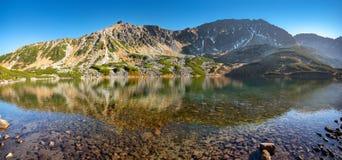 Autumn mountain landscape. Mountain Lake in the Tatras stock image