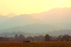 Autumn Mountain Landscape - Pai, Thailand Royalty Free Stock Photography