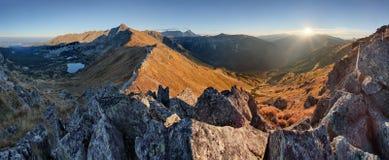 Autumn mountain landscape in Poland Tatras royalty free stock photos