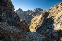 Autumn mountain landscape. Tatranska Lomnica. royalty free stock photo