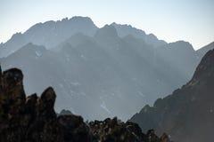 Autumn mountain landscape. Tatranska Lomnica. stock photography