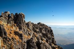 Autumn mountain landscape. Tatranska Lomnica. stock image