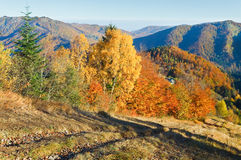 Autumn  mountain Nimchich pass Stock Photography