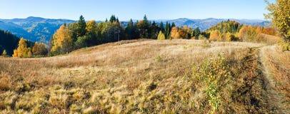 Autumn  mountain Nimchich pass (Carpathian) Stock Photo
