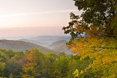 Autumn Mountain overlook Stock Photo