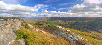 Autumn mountain panorama Royalty Free Stock Photo