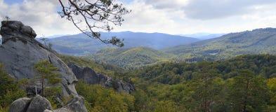 Autumn mountain panorama Royalty Free Stock Photo