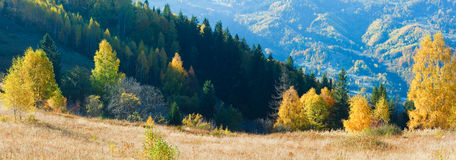 Autumn mountain panorama (Carpathian, Ukraine). Royalty Free Stock Photos