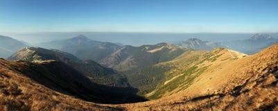 Autumn Mountain panorama in High West Tatras Stock Photo