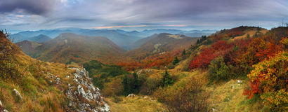 Autumn mountain from peak Klak Royalty Free Stock Images