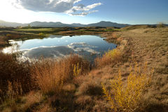 Autumn Mountain Pond Royalty Free Stock Photography