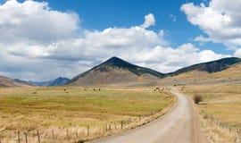 Autumn Mountain Ranch Arkivbild