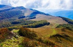 Autumn mountain range Royalty Free Stock Images