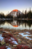 Autumn mountain reflection in the Wasatch Mountains. Stock Images