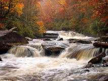 Autumn mountain river Stock Image
