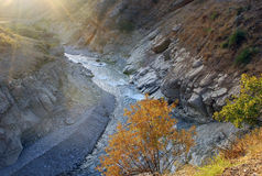Autumn mountain river in Tien Shan Royalty Free Stock Photography