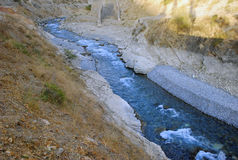 Autumn mountain river in Tien Shan Stock Image