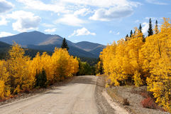 Autumn Mountain Road Stock Images