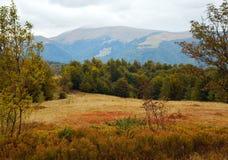 Autumn mountain road view Royalty Free Stock Photos