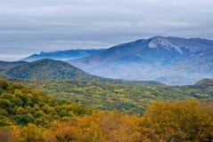 Autumn mountain scene Stock Photos