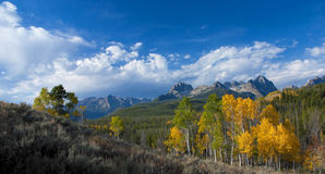 Autumn Mountain scene with cloudscape Stock Photography