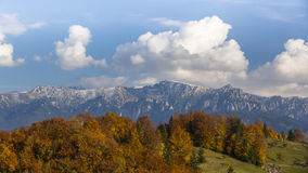 Autumn mountain scenery in the Transylvanian Alps Royalty Free Stock Photography