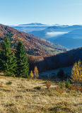 Autumn mountain slope. Royalty Free Stock Images