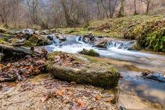 Autumn Mountain strömlandskap Fotografering för Bildbyråer