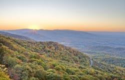 Autumn Mountain Sunset Stock Photos