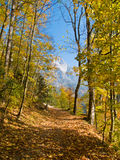 Autumn in mountain valley Royalty Free Stock Image