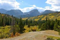 Autumn Mountain Valley Arkivbild