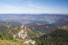 Autumn Mountain Valley Arkivfoto