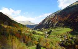 Autumn in the mountain valley Stock Image