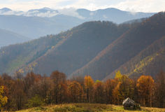 Autumn mountain view Royalty Free Stock Images