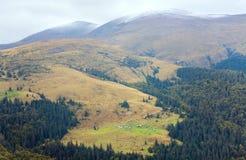 Autumn mountain view Stock Photo