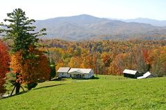 Autumn Mountain View Stock Photography