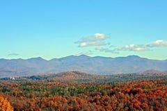 Autumn Mountain View. View of distant mountains in autumn on Blue Ridge Parkway, North Carolina Royalty Free Stock Photos