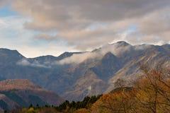 Autumn Mountain View, Nikko stock afbeelding