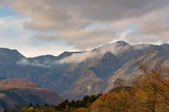 Autumn Mountain View, Nikko stock image