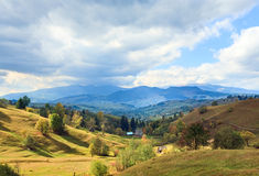 Autumn mountain village Royalty Free Stock Photo