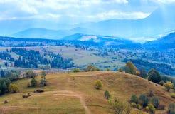Autumn mountain village Royalty Free Stock Images