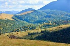 Autumn mountain village Stock Photography