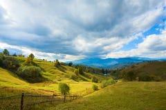 Autumn mountain village Stock Image