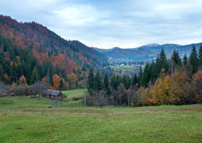 Autumn mountain village Royalty Free Stock Photography
