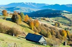Autumn mountain village (Carpathian, Ukraine). Royalty Free Stock Photos