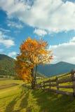 Autumn mountain village Stock Photo